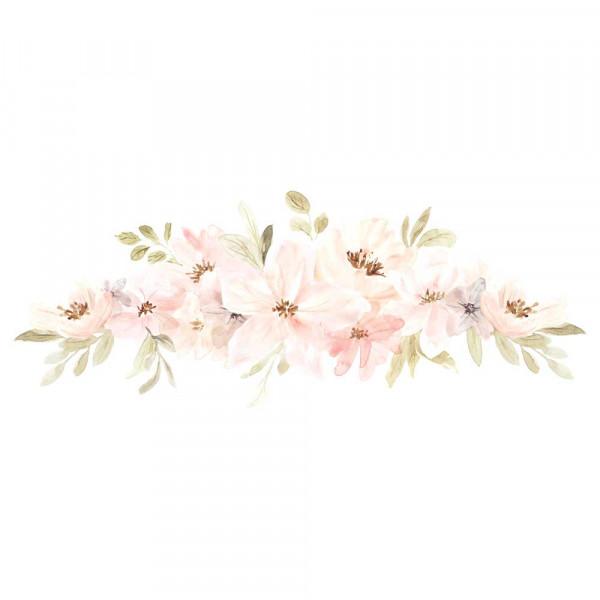 Lilipinso Wandsticker Blütenbouquet apricot grün