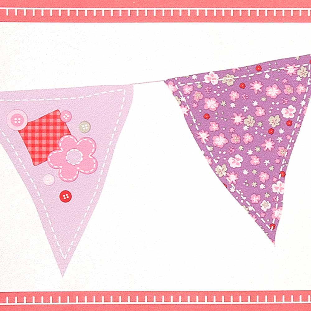 Caselio girls only bord re wimpel rosa lila bei kinder r ume - Wimpel babyzimmer ...