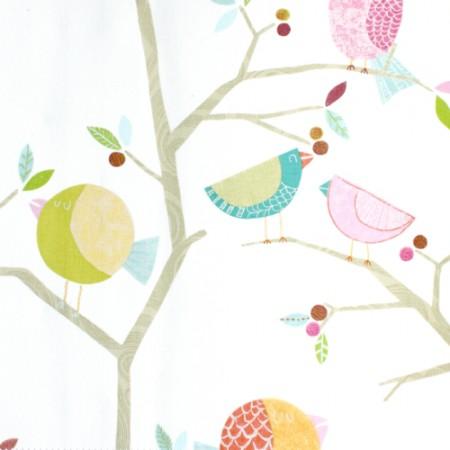 Harlequin Stoff Vögel rosa
