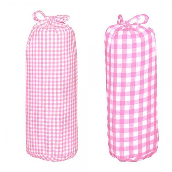 Taftan Spannbettlaken 70 x 140 vichy & karo rosa