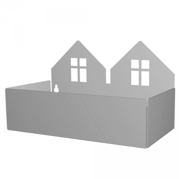Roommate Wandregal Häuser grau