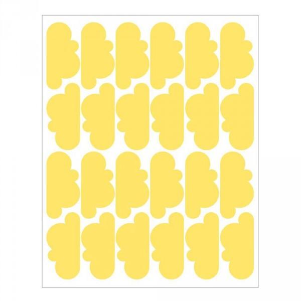 tresxics Wandsticker Wolken gelb