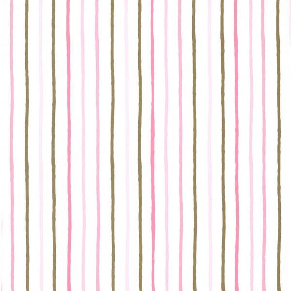 Caselio Girls only Tapete Streifen gold rosa pink