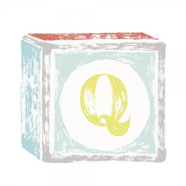 Lilipinso Sticker Buchstabe auf Spielwürfel Q