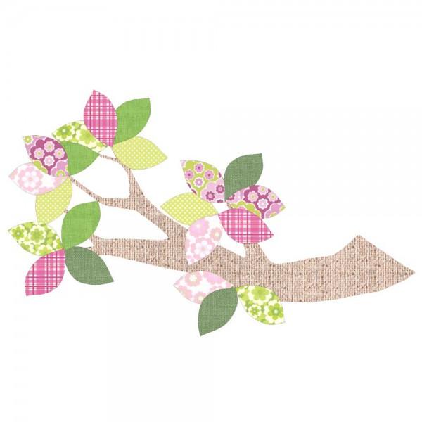Inke Tapetenast Relief grün/rosa
