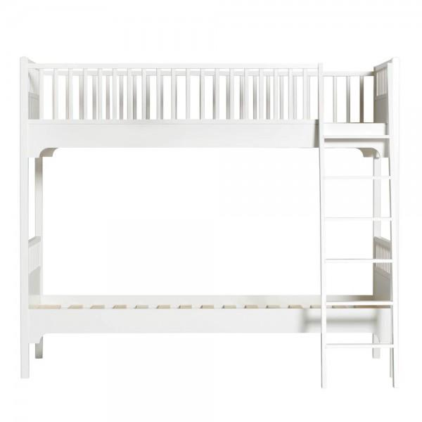 Oliver Furniture Etagenbett 90 x 200 weiß schräge Leiter