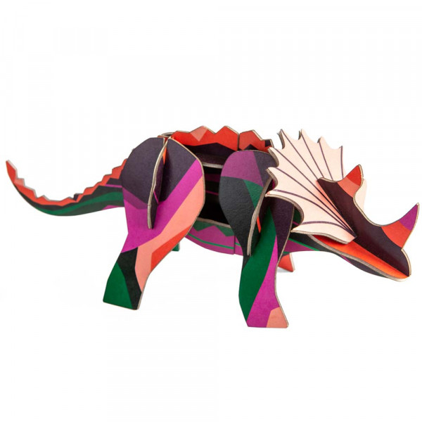 studio ROOF 3D Dinosaurier Triceratops Pappe