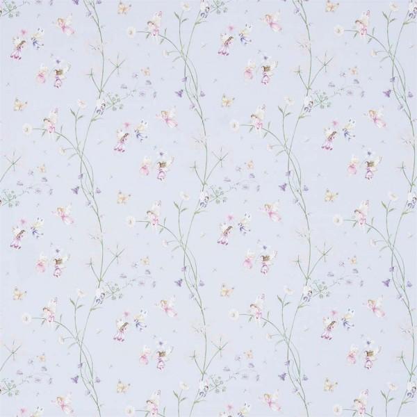 Little Sanderson Abracazoo Motivstoff Feen Garten hellblau lila pink