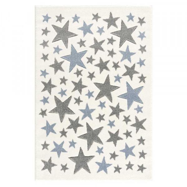 Livone Kinderteppich Stella Sterne blau grau