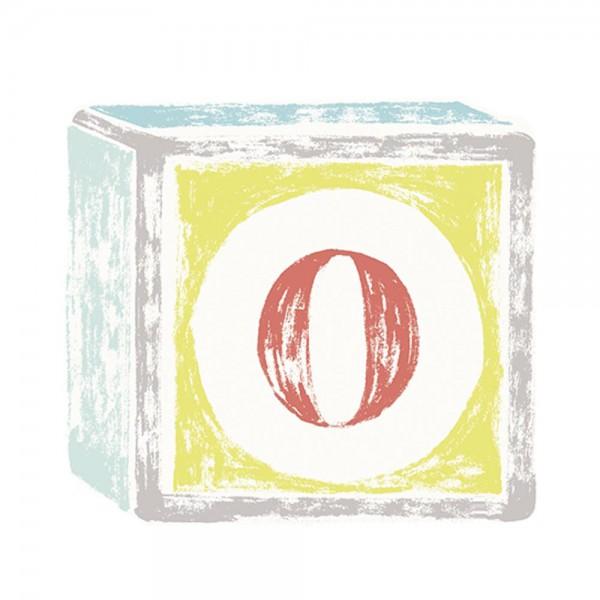 Lilipinso Sticker Buchstabe auf Spielwürfel O