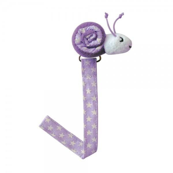 Sindibaba Schnullerhalter Schnecke violett