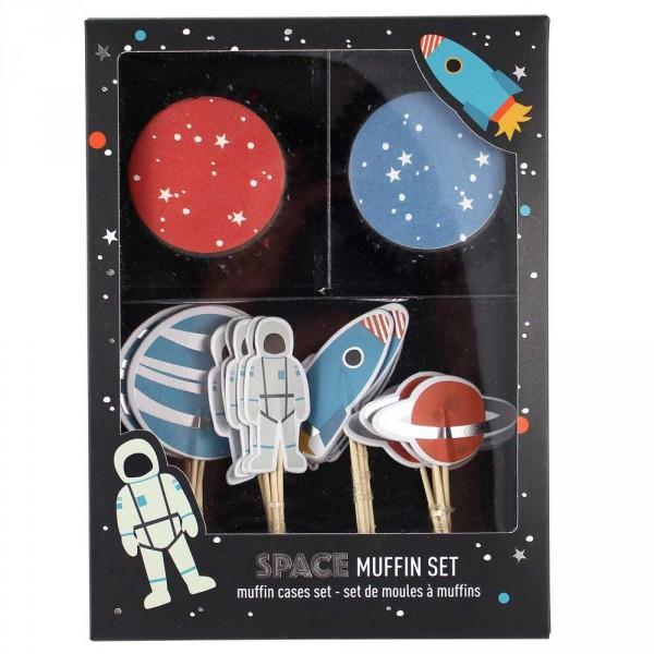 Ava & Yves Cupcake Set Astronaut