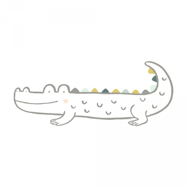 Lilipinso Wandsticker XL Krokodil grau grün