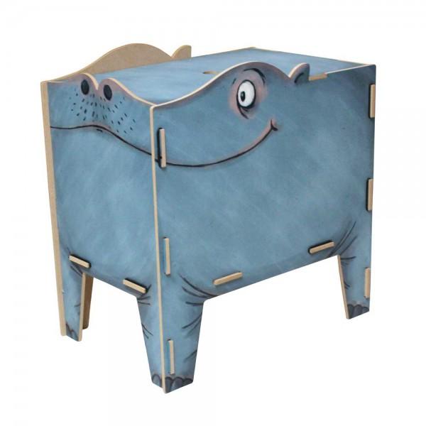 Werkhaus Kinderhocker Vierbeiner Hippo
