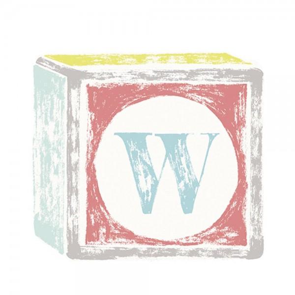 Lilipinso Sticker Buchstabe auf Spielwürfel W