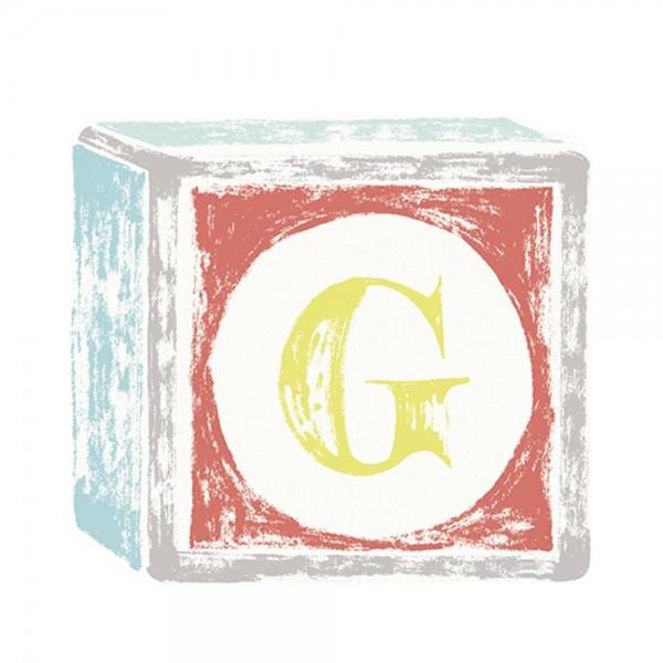 Lilipinso Sticker Buchstabe auf Spielwürfel G