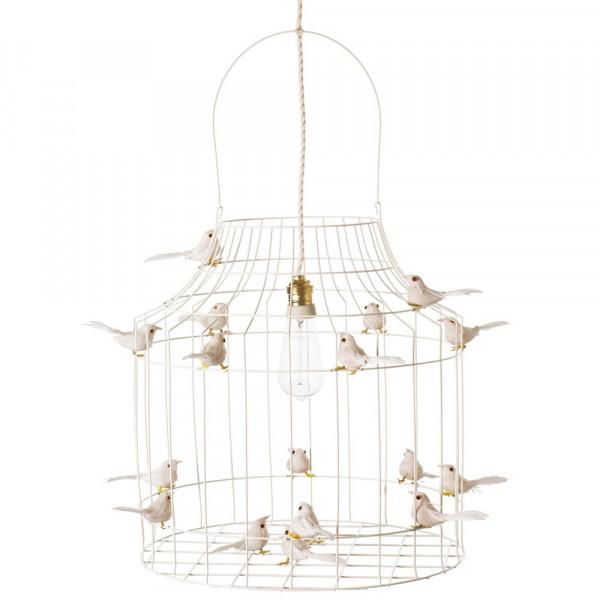 Dutch Dilight Pendellampe weiß Vögelchen weiß