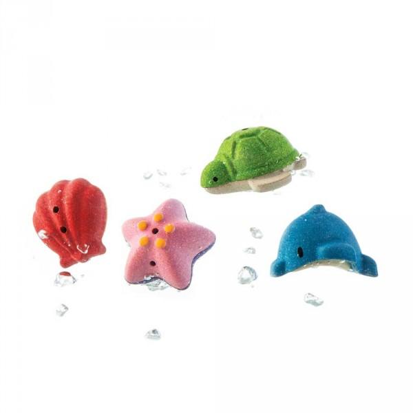 Plan Toys Badewannen Spielzeug Unterwasserwelt Holz bunt