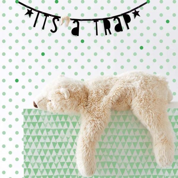 Eijffinger Tout Petit Tapeten Wandbild liegender Teddy mint