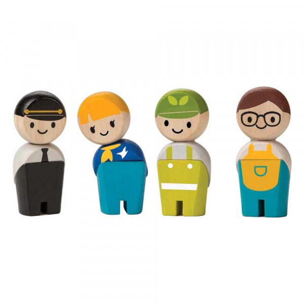 Plan Toys Spielzeug Figuren-Set Handwerker Holz