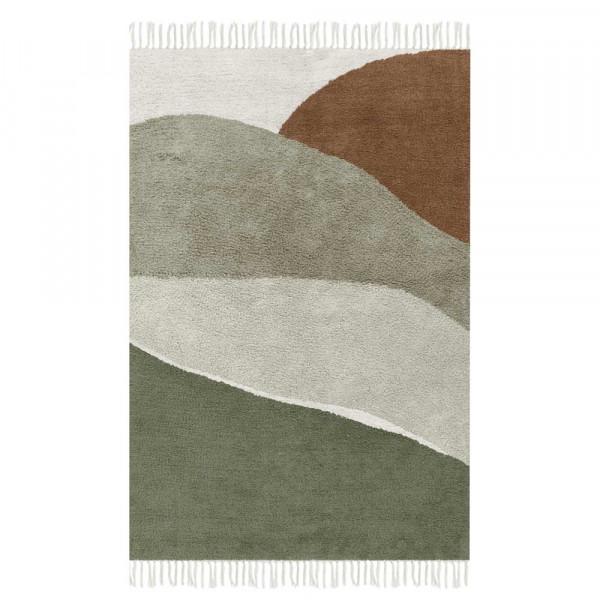 Little Dutch Teppich Landschaft oliv 90 x 130