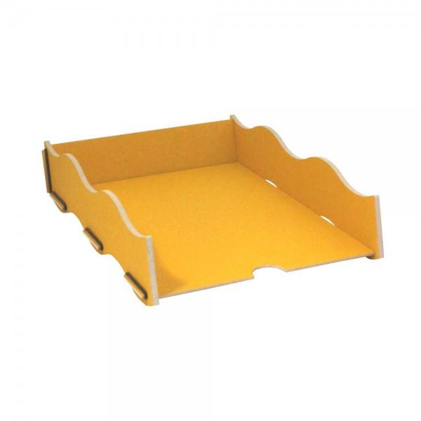 Werkhaus Schreibtisch Ablage Box gelb