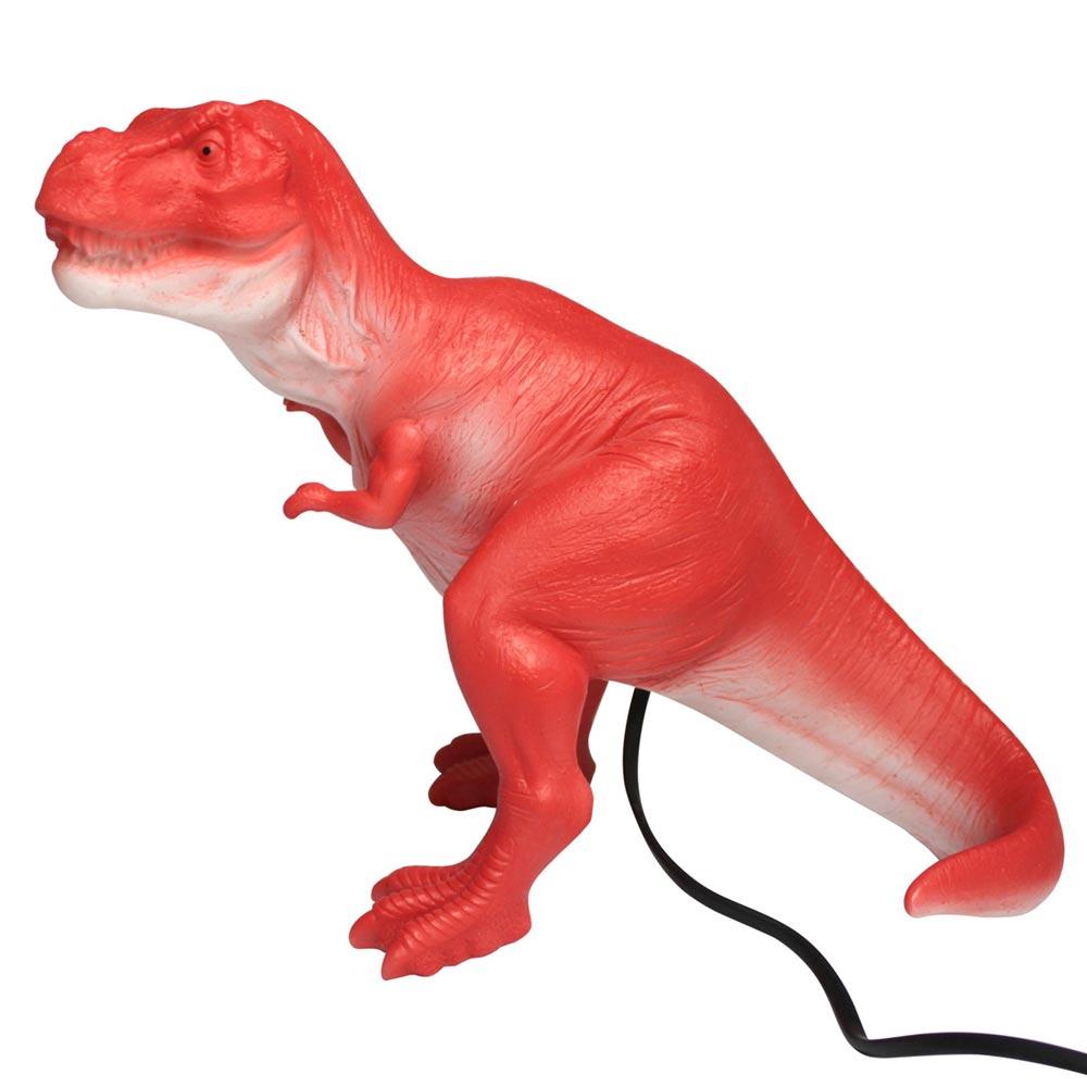 nachtlicht dinosaurier lampe t rex rot bei kinder räume