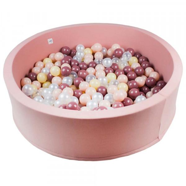 Minibe Bällebad groß rosa incl. 300 Bällen in Wunschfarbe