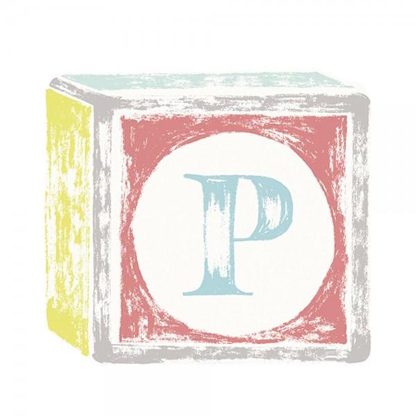 Lilipinso Sticker Buchstabe auf Spielwürfel P