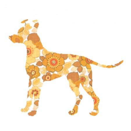 Inke Tapetentier Hund Ranke orange