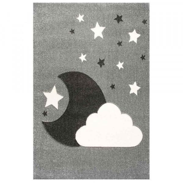 Scandic Living Kinderteppich Wolke & Mond silbergrau