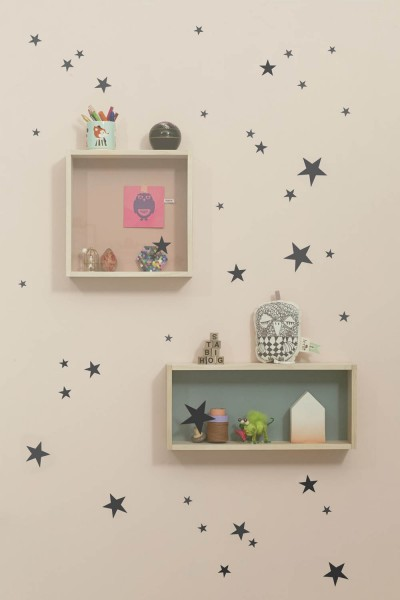 Ferm Living mini Wandsticker Sterne schwarz