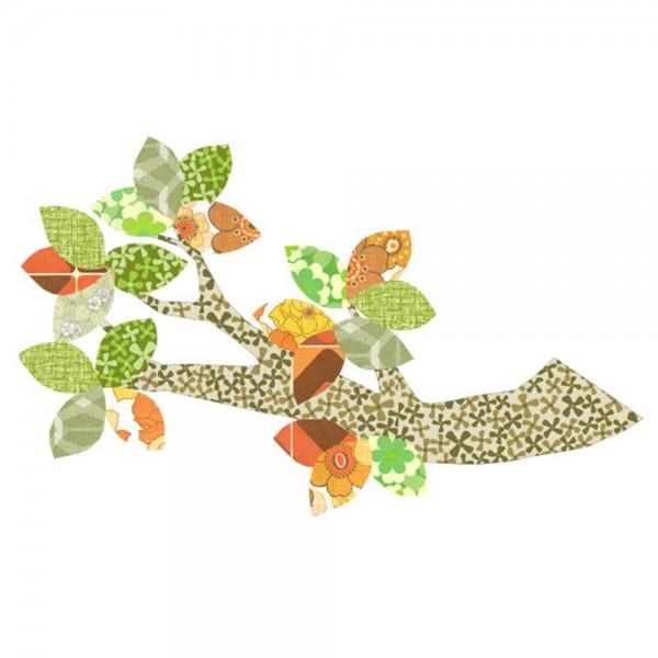 Inke Tapetenast braun/grün