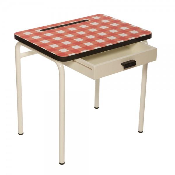 Schmaler Schreibtisch rot weiß