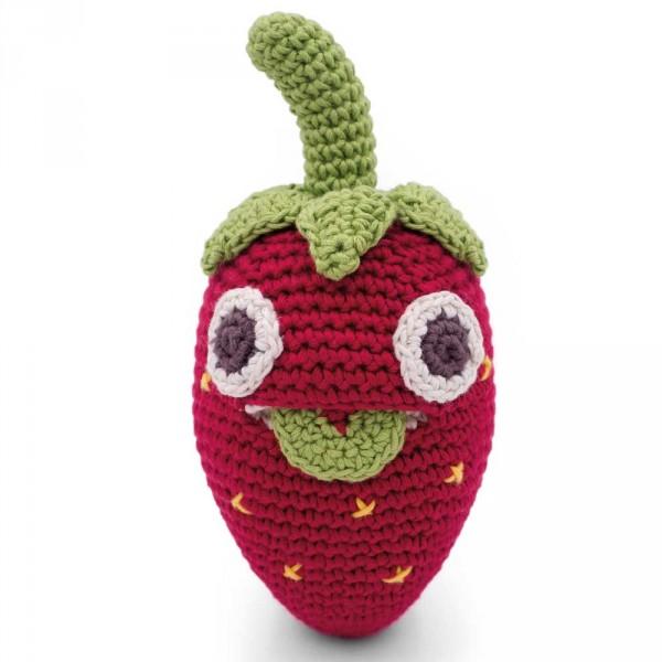 Myum Babyrassel gestrickt Erdbeere Billy