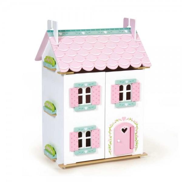Le Toy Van Puppenhaus Sweetheart Häuschen Holz bunt möbliert