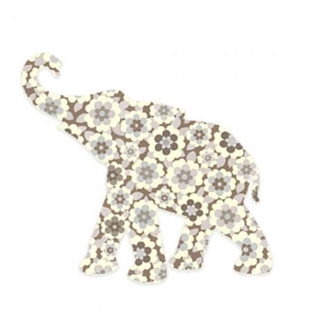 Inke Babyelefant Blumen braun
