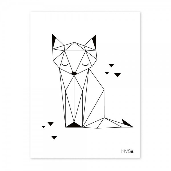 Lilipinso Poster Origami Fuchs