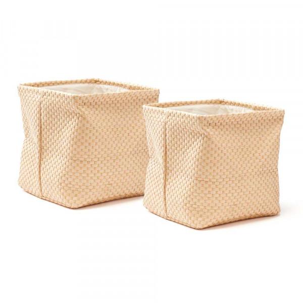 Kids Concept faltbares Korb-Set Papier beige
