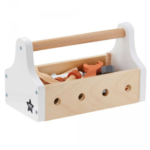 Kids Concept Spiel Werkzeugkasten Holz weiss