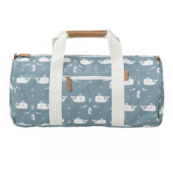 Fresk kleine Reisetasche Wale blau