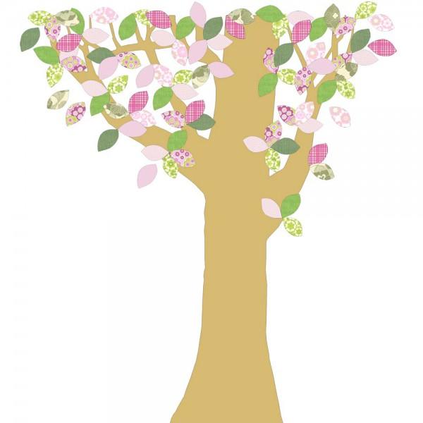 Inke Tapetenbaum Goldstamm grün/rosa