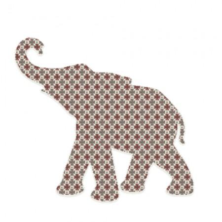 Inke Babyelefant Raster braun