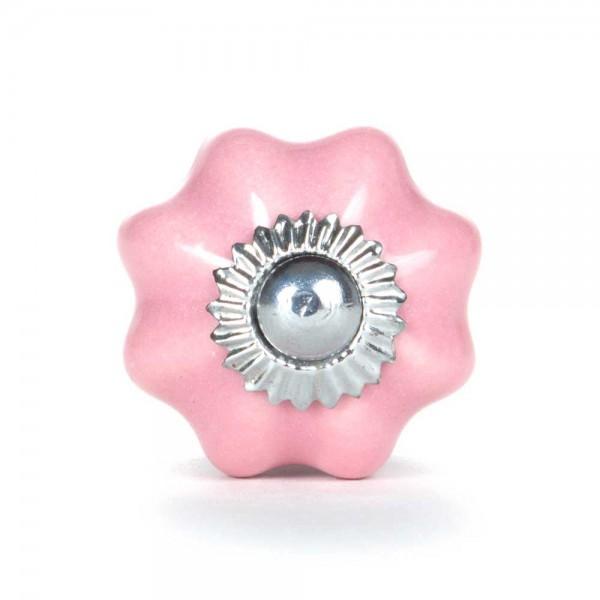 Knaufmanufaktur Möbelknopf Blume uni rosa