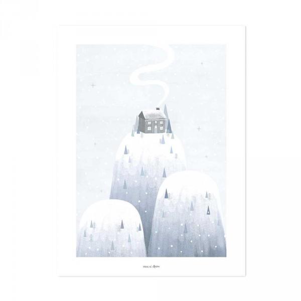 Lilipinso Poster Eisberge grau weiss
