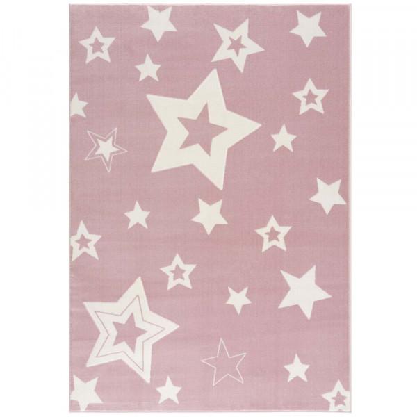 Livone Kinderteppich Galaxy Sterne rosa