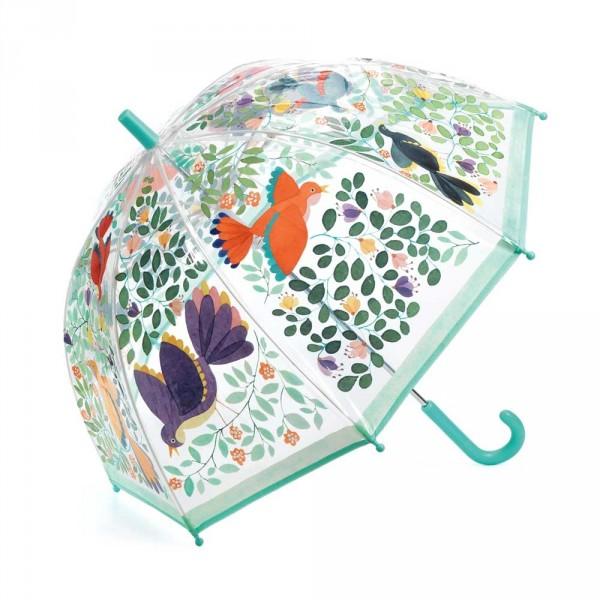 Djeco Kinder Regenschirm Vögel und Blätter