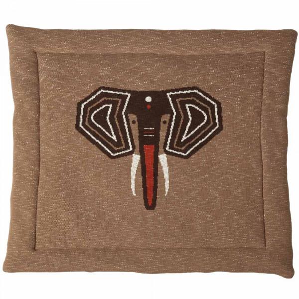 Quax Krabbeldecke Feinstrick Elefant braun 100 x 100