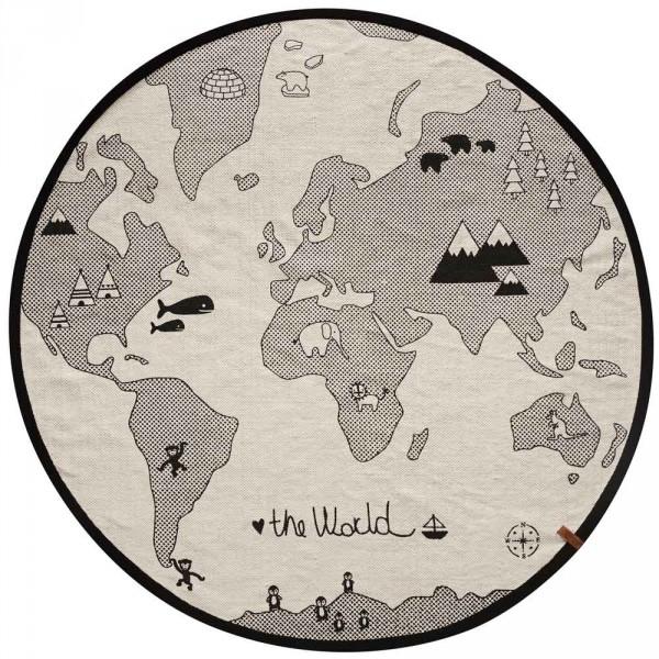 OYOY Kinderteppich Weltkarte