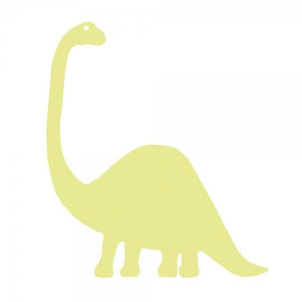 Inke Tapetendino Brontosaurus grün Punkte weiss